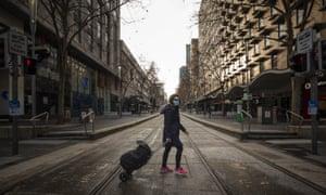 Bourke Street in Melbourne, Sunday, 12 July 2020.