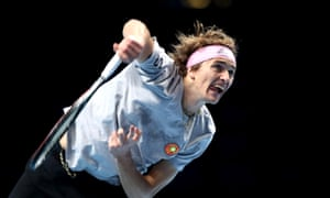 Alexander Zverev started the defence of his title with a resounding win over Rafael Nadal.
