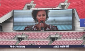 A recording of Emeli Sande, who has sung at gigs hosted by MelodyVR, singing Abide With Me plays on screens ahead of the FA Cup final this month.