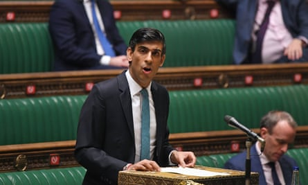 Chancellor Rishi Sunak delivering his spending review in the House of Commons, 25 November 2020