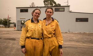 Firefighter sisters Elise and Michelle Fleming of Balmoral RFS