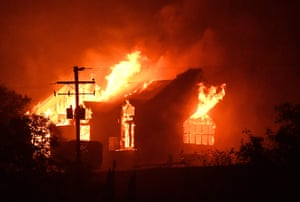 The Signorello estate winery burns in the Napa wine region
