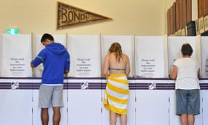 Residents cast their vote at Bondi Surf Bathers Life Saving Club at the 2013 federal election.