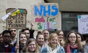 Junior doctors protest in London.