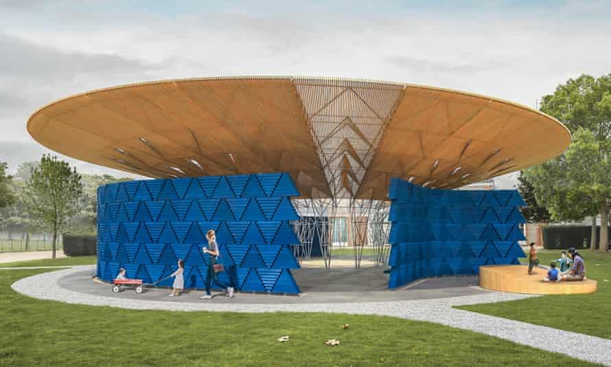 Like a rustic flying saucer ... digitally rendered design for Francis Kéré's Serpentine pavilion.