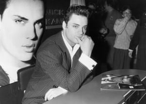 Nick Kamen at a signing session to promote his epnymous album in 1987