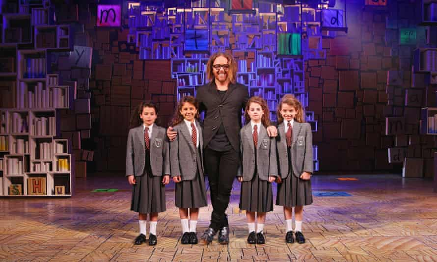 Tim Minchin and the cast playing Matilda in his musical at the Princess Theater, Melbourne, Australia in 2016.
