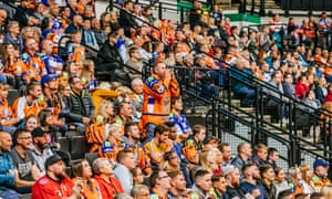 'We're a hockey family': fans, old and young, soak up the match atmosphere of the UK's fastest-growing winter sport.