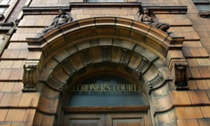 Partial view of entrance to Manchester coroner's court