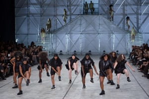 Step dancers at Rick Owens SS14