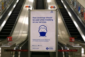 Transport for London has asked for face coverings to be worn on its services.