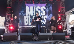 Miss Blanks performs at Laneway festival in Sydney.