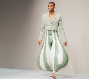 Latex trousers by Harikrishnan.