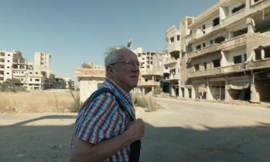 Robert Fisk in Homs, Syria in 2019.