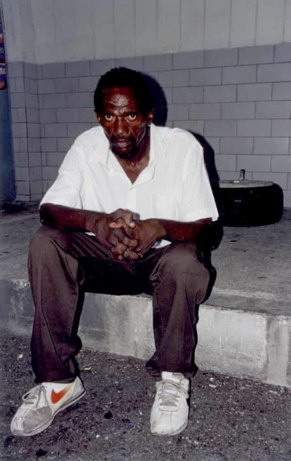 Richard Austin in the Kingston commercial district of Cross Roads in 2003.