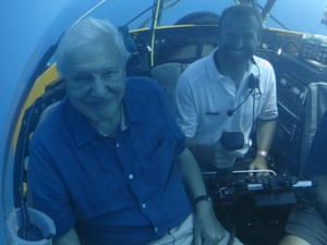 Filming Great Barrier Reef in the Triton submersible was 'better than travelling to the moon,' says Attenborough.