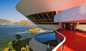 Museum of Contemporary Art in Niterói has stunning views back to Rio.