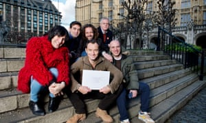 With Noel Fielding, Jamie Byng, Stephen Daldry, Jude Law and fellow refugee Ahmad Al-Rashid, delivering a letter to the PM about the treatment of child refugees.