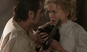Intimate danger … Colin Farrell and Nicole Kidman in The Beguiled.