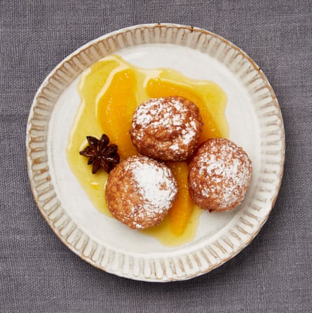 Yotam Ottolenghi's tapioca fritters with orange syrup and star anise