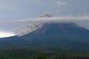Lumajang, Indonesia Mount Semeru erupts in East Java