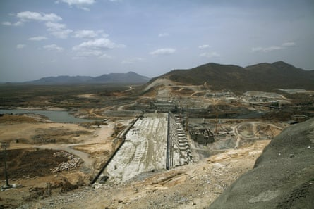 The Grand Renaissance Dam – another Ethiopian project – under construction near the Sudanese-Ethiopia border on 31 March 2015.