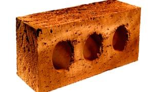UK standard building brick. Image shot 05/2006. Exact date unknown.<br>AWJRH5 UK standard building brick. Image shot 05/2006. Exact date unknown.