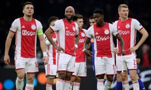 Ajax were top of the Eredivisie on goal difference when the season was initially suspended.