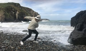 Cerys Matthews on Aberfelin beach