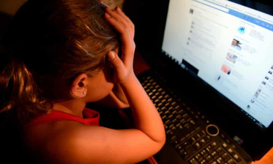 A cyberbullied child