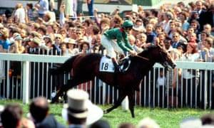 Walter Swinburn wins Derby on Shergar in 1981