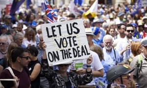 'Let us vote on the deal': the People's March demanding a People's Vote on the final Brexit deal, in central London
