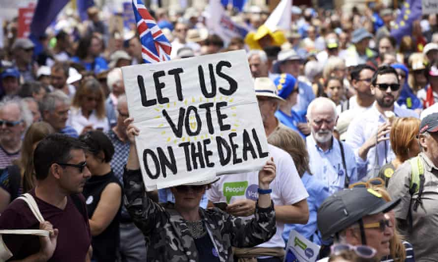 A people's vote demonstration in June.