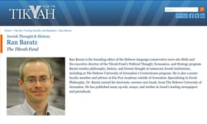 Ran Baratz's author page on the Tikvah Fund website.
