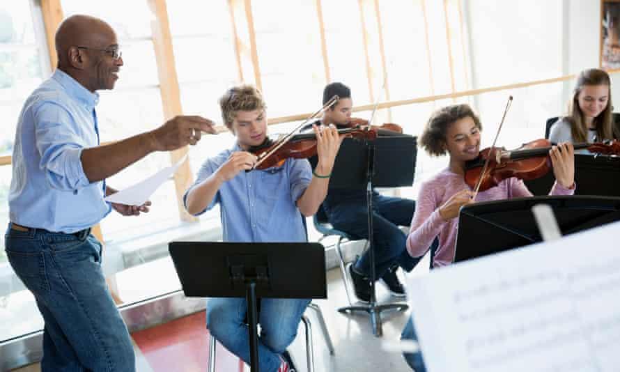 A music class in a school