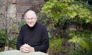 Clive James photographed next to his maple tree last year.