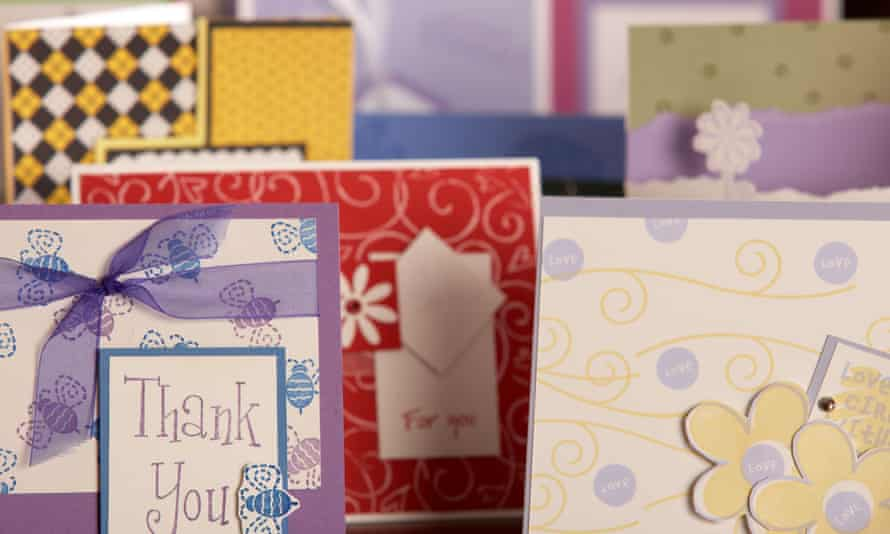 Various thank you cards