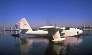 Howard Hughes' wooden flying boat, known as the Spruce Goose.