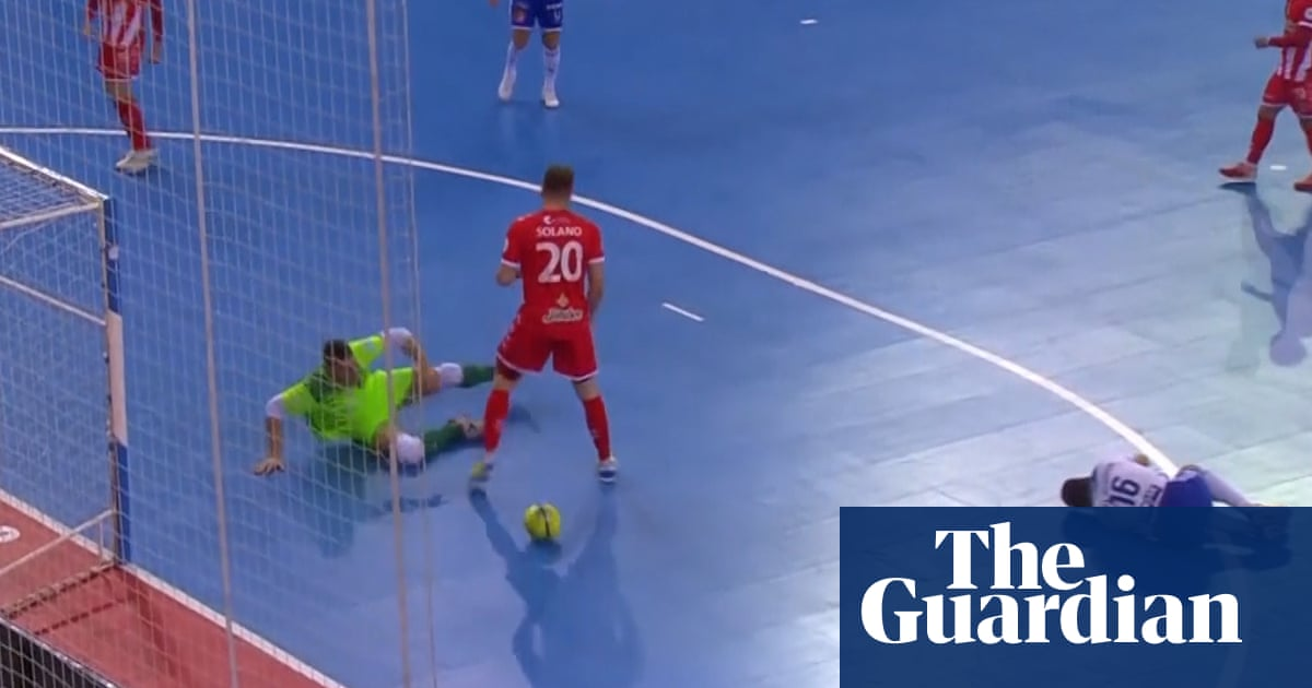 Fair play: futsal player refuses to score after opponent goes down injured – video