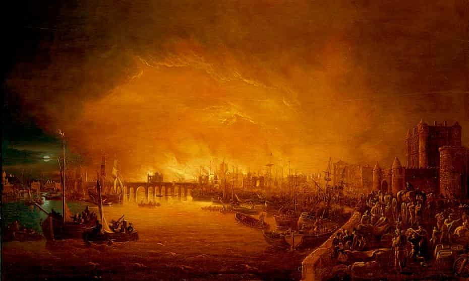 painting Fire of London