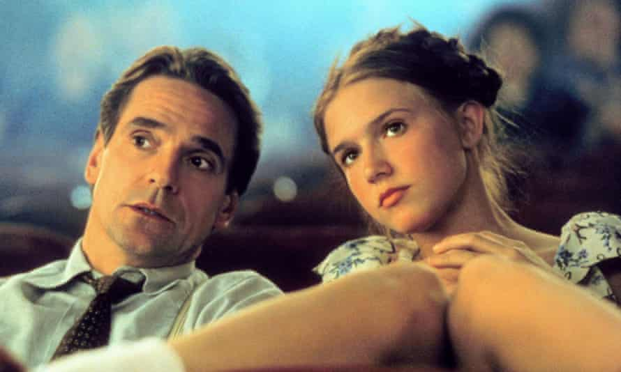 Jeremy Irons and Dominque Swain in the 1997 adaptation of Lolita.