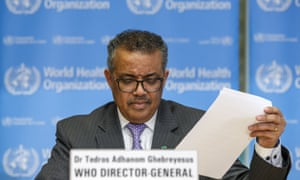 Tedros Adhanom Ghebreyesus, Director General of the World Health Organization (WHO), informs the media about the last updates regarding on the novel coronavirus.