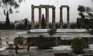 The archaeological site of the temple of Zeus in Athens this week.
