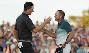 Sergio García's respectful tussle with Justin Rose, left, on the final day at the Masters came at a timelyly moment for golf after the Lexi Thompson affair.
