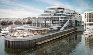 CGI of Southampton Harbour Hotel and Spa