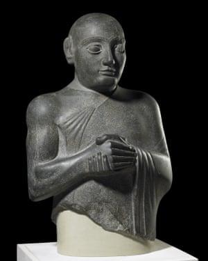 Dolerite statue of King Gudea