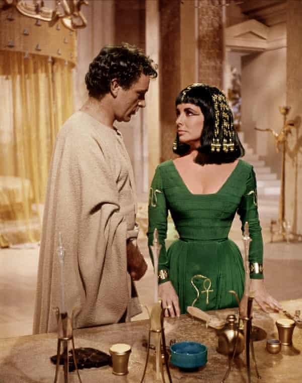 Richard Burton and Elizabeth Taylor in 1963's blockbuster Cleopatra.