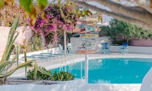 Caveland, Santorini, Greece Hostel in the village of Karterados, in central Santorini.