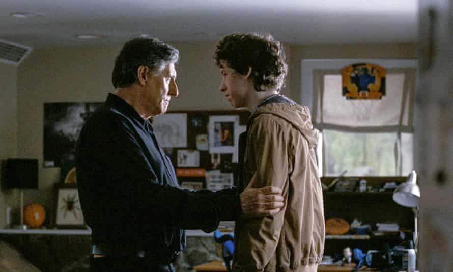 Gabriel Byrne as Gene, with Devin Druid as younger son Conrad.