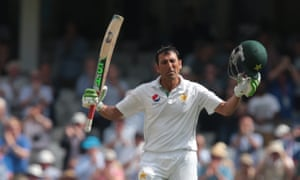 England v Pakistan, 4th Investec Test Match Cricket, The Oval - 13 Aug 2016 Pakistan's Younis Khan celebrates his double century on day three